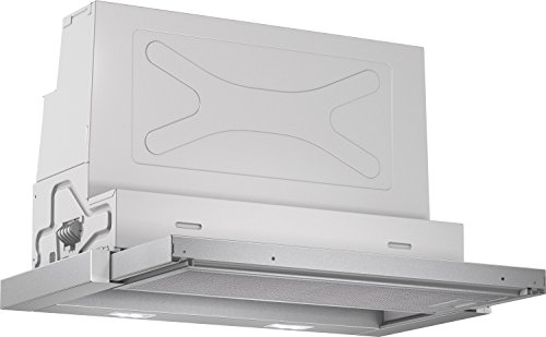 Bosch DFR067A50 Serie 4 Flachschirmhaube / B / 60 cm / Silbermetallic / wahlweise Umluft- oder...