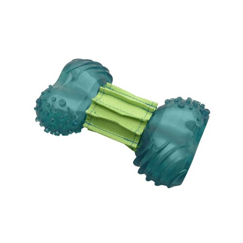 Dogit 72907 Hundespielzeug mit Zahnpflegeeffekt - Kauknochen Chew & Clean, groß
