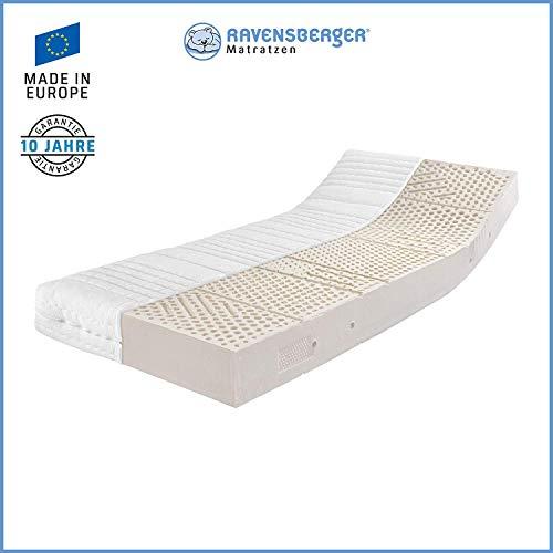 Ravensberger Matratzen® Latex Oeko TEX 100 LATEXCO | 7-Zonen Komfort- Matratze aus Latex H3 RG 65...