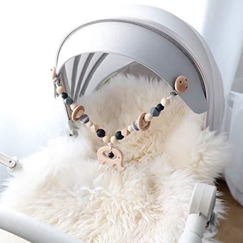Mamimami Home 1pc Baby Spielzeug aus Holz Elefant Kinderwagen String Links Clip auf Kinderwagen...