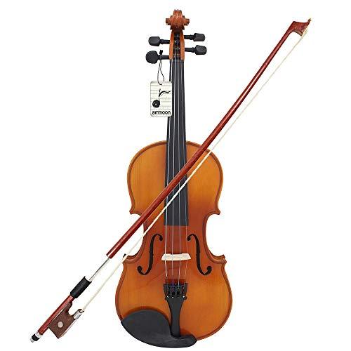 Asdomo Full Size 1/4 Violine Geige natürliche akustische Massivholz Fichte Front Board Flamme Ahorn...