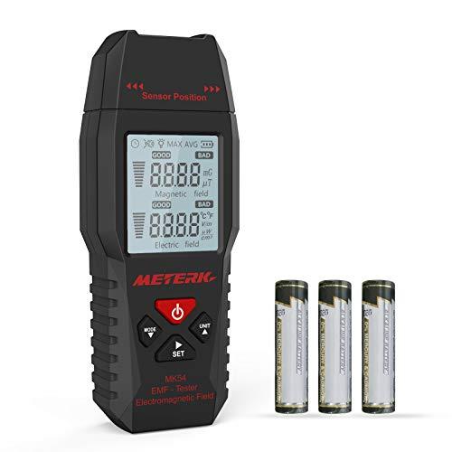EMF Meter Meterk Strahlung Detektor digitales Strahlenmessgerät Handheld Design mit LCD-...