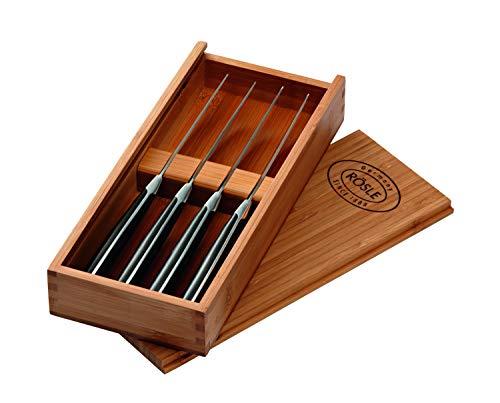 RÖSLE Steakmesser-Set 4-tlg., Hochwertige Steakmesser mit scharf geschliffener Klinge aus...