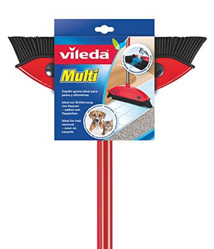 Vileda Multi Besen, mit Teleskopstiel, Kautschukborsten, gegen Tierhaare, verstellbar von 75–130...