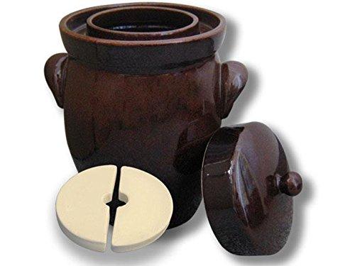 Original K&K Gärtopf 26,0 Liter - Form II - inkl. Beschwerungsstein und Deckel
