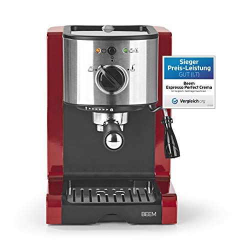 BEEM ESPRESSO-PERFECT | Espresso-Siebträgermaschine - 15 bar | BASIC SELECTION | Rot