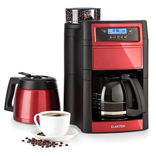 Klarstein Aromatica II Kaffeemaschine mit Mahlwerk, 1000 W, 1.25L Glaskanne oder 1.25 L...