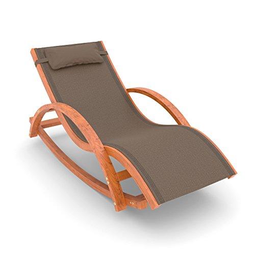 Ampel 24 Relax Schaukelstuhl Rio, Relaxliege mit Armlehnen, Gartenmöbel aus vorbehandeltem Holz,...