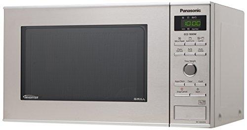 Panasonic NN-GD37HSGTG Mikrowelle mit Grill (1000 Watt, Inverter Mikrowelle, 23 Liter)...