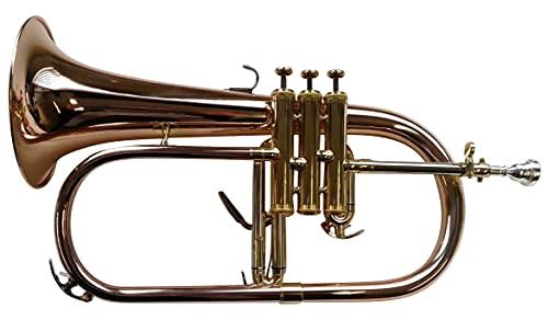 SYMPHONIE WESTERWALD® Flügelhorn, Konzertflügelhorn in B, Goldmessing, Monelventile,...