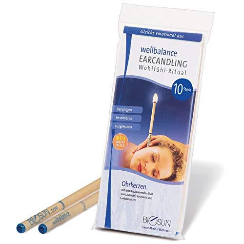 BIOSUN Wellbalance Ohrenkerzen 10 Stück (5 Paar) Mit Sicherheits-Filter. Faszinierender Duft Von...