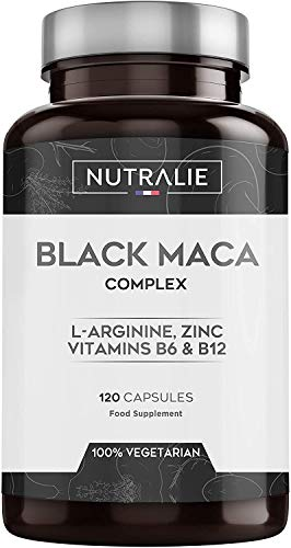 Maca Schwarz aus Peru entspricht 24.000 mg für jede Dosis von 1200 mg, mit L-Arginin, Zink und den...