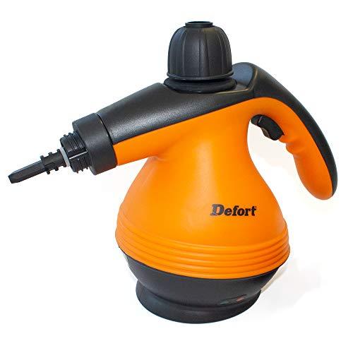 Defort DSC-1200 Dampfreiniger mit 1200 Watt und 3,0 bar Druck, W, Orange, Schwarz