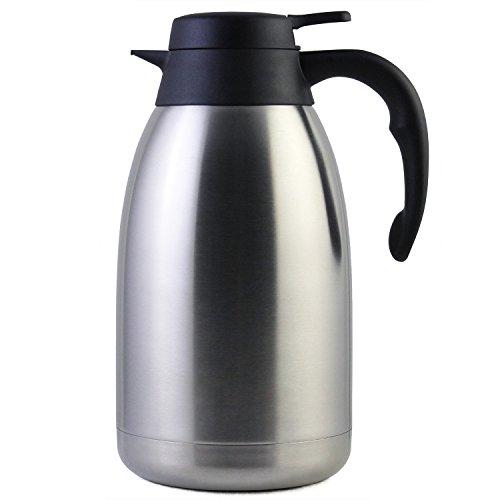 2 Liter Edelstahl Thermoskanne, Teekanne, Kaffeekanne, und Isolierkanne mit 12 Stunden...