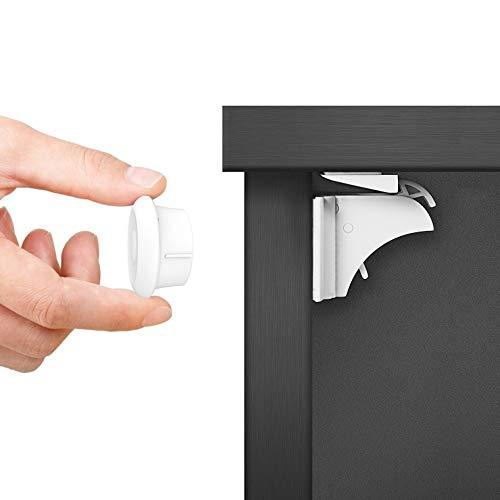 Dokon Baby Sicherheit Magnetisches Schrankschloss, die unsichtbare Kindersicherung für Schranktür...