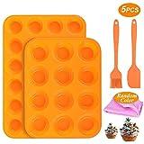 Muffinform,Silikon Mini Muffinform 12&24er Klein Backform Set mit Antihaftbeschichtet,BPA...