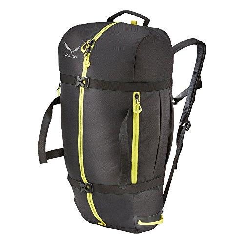 SALEWA Unisex-Erwachsene Seilrucksack Ropebag XL, Black/Citro, 62 x 32 x 1 cm, 1 Liter