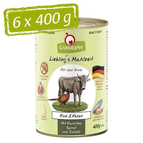 GranataPet Liebling's Mahlzeit Rind & Fasan, Nassfutter für Hunde, Hundefutter ohne Getreide & ohne...