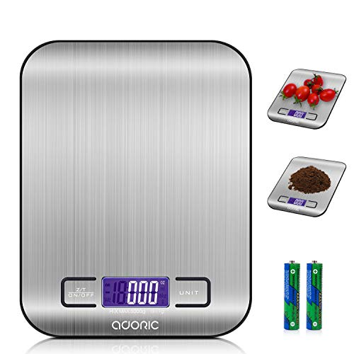 ADORIC Digitalwaage Professionelle Electronische Waage, Küchenwaage mit LCD Display-wunderbare...