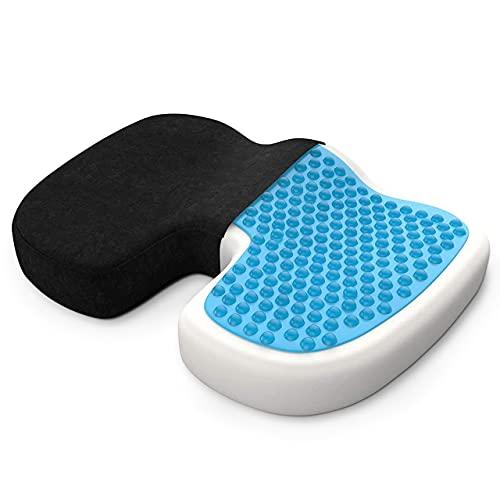 bonmedico Sitzkissen orthopädisch aus Memory Foam mit Gel - Ergonomisches Steißbeinkissen für...