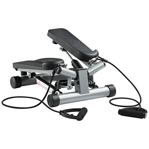 Ultrasport Up-Down-Stepper mit Trainingsbändern, Mini-Fitnessgerät inkl. Trainingscomputer mit...
