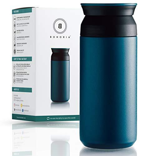 BOHORIA® Premium Edelstahl Kaffee-to-Go-Becher – Isolierbecher – Thermo-Becher – Doppelwandig...