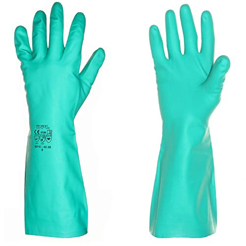 Professionelle lange Gummihandschuhe aus Nitril, für Küche, Bad, Labor, Industrie, Reinigung,...