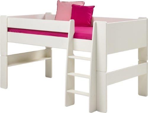 Steens For Kids Kinderbett, Hochbett, inkl. Lattenrost und Absturzsicherung, Liegefläche 90 x 200...