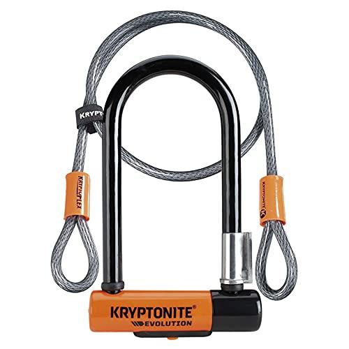 Kryptonite Evolution Mini 7 Kabel Kryptoflex Verschluss, schwarz/orange, One Size
