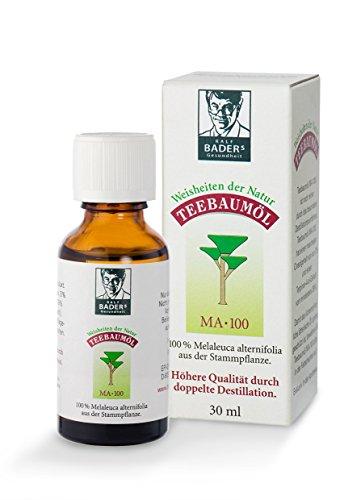 BADERs Teebaumöl. Der Klassiker aus der Apotheke. Doppelt destilliert. 100% Australisches Melaleuca...