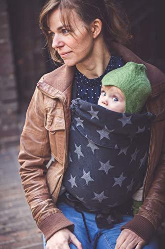 Madame Jordan Wrap Conversion Mei Tai 'City of Stars black' - Tragehilfe ab Geburt bis ca. 2 Jahre,...