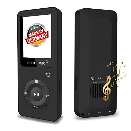BERTRONIC Made in Germany BC02 Royal MP3-Player 8 GB Bis 100 Stunden Wiedergabe Radio | Portabler...