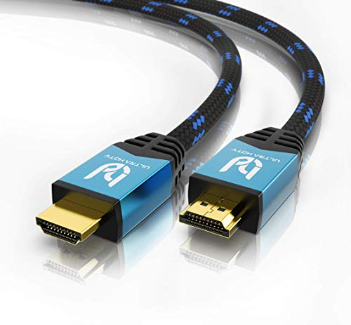 Ultra HDTV 4K HDMI Kabel - 2 Meter, 18 GBit/s High Speed HDMI 2.0b, HDMI Premium Zertifikat, 4K@60Hz...