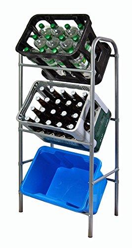 Ks Getränkekistenregal Flaschenkastenregal für 3 Kisten Regal für Getränkekästen 116 x 33 x 50...
