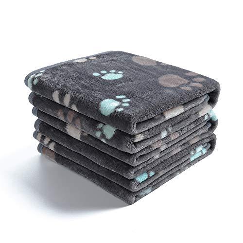 1 Pack 3 Decken Super Weich Fluffy Premium Fleece Haustier Decke Flanell Wurf für Hund Welpen Katze...