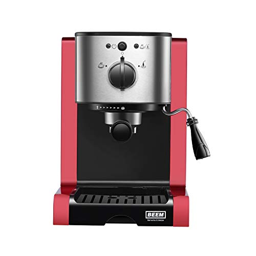 BEEM 02051 Espresso Perfect (Verbesserte Version 2019!) | Espressomaschine für Pulver & Pads (1350...