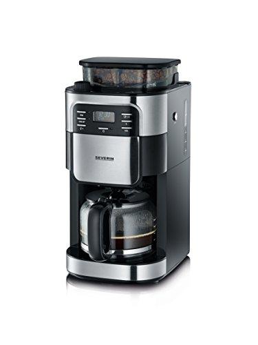 Severin Kaffeemaschine mit Mahlwerk, Kaffeeautomat mit Glaskanne und Timer-Funktion, auch als...
