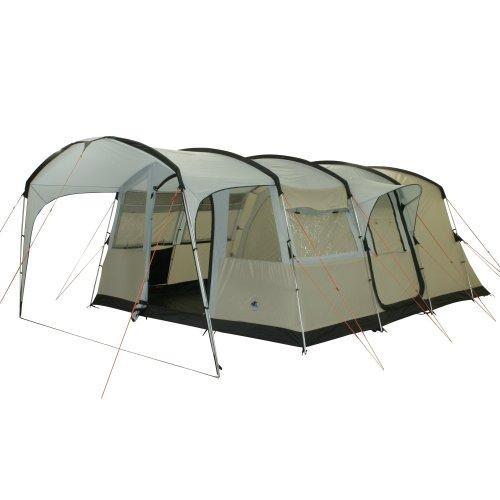 10T Zelt Sorrento 6 Mann Tunnelzelt 5000mm Campingzelt wasserdichtes Familienzelt Bodenwanne Vordach