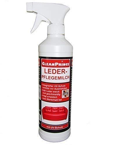 Leder-Pflegemilch 500 ml | CleanPrince Lederpflegemilch Lederbalsam Ledermilch Lotion Leder Auto...
