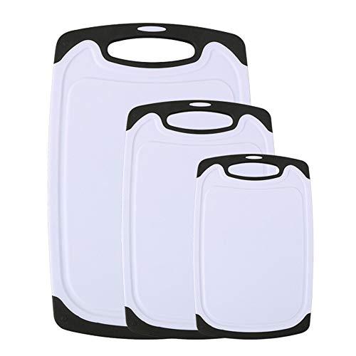 Vicloon Schneidebrett, 3-teiliges Kunststoff-Schneidebrett Antibakteriell Spülmaschinenfestes...