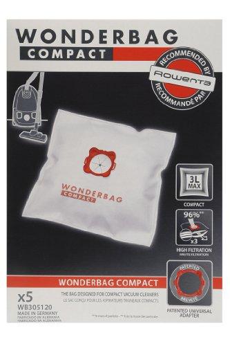 Universal WB305120 Staubsaugerbeutel Original Wonderbag, 5 Beutel und 1 Adapter