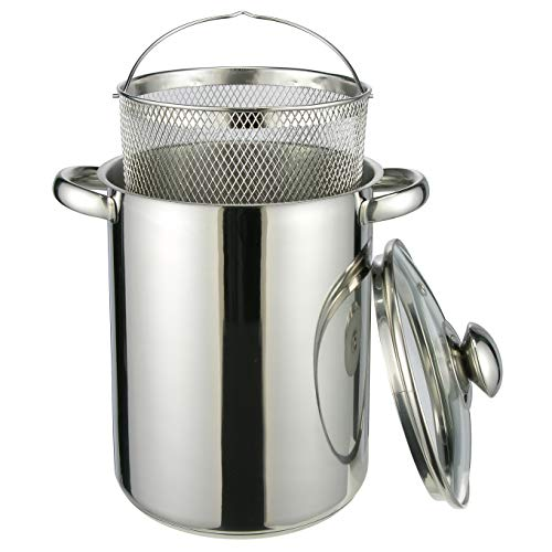 HI Nudeltopf & Spargeltopf hoch (Kochtopf 4 Liter, mit Sieb und Deckel) - Pastatopf mit Siebeinsatz,...