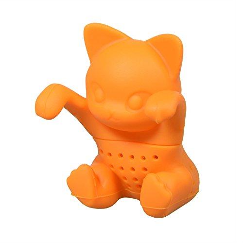 PhoneNatic Niedliches Tier Katze Tee-Ei aus Silikon (BPA-frei) für losen Tee Tee-Infuser