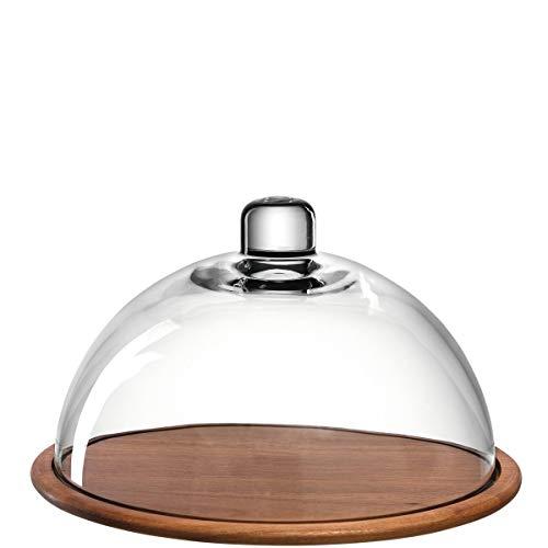 Leonardo Holzkäseplatte Glasglocke Cucina, Käsebrett aus Holz inklusive Glas-Haube, Durchmesser...