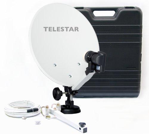 Telestar Camping-Sat-Anlage (Hartschalenkoffer, 13,7 Zoll (35 cm) Spiegel , Single-LNB (0,1dB),...