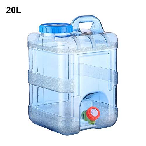 Todaytop 15L 20L Tragbarer Wasserkanister mit Deckel Zapfen Kunststoff Auto Wasserbehälter Camping...