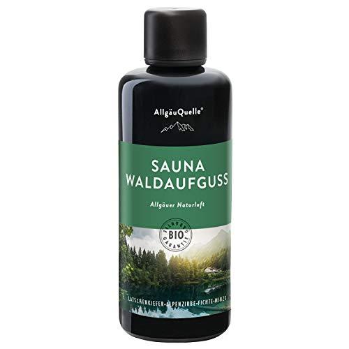 AllgäuQuelle Saunaaufguss mit 100% BIO-Öle Waldaufguss Fichte Latschenkiefer Alpenzirbe Minze...