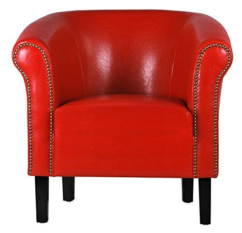 FORTISLINE Sessel Clubsessel Loungesessel Cocktailsessel Monaco Rot W287 03
