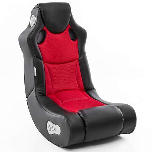 Wohnling Soundchair Booster in Schwarz Rot mit Bluetooth eingebauten Lautsprechern  ...