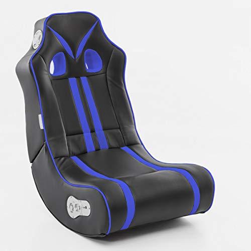 Wohnling® Soundchair Ninja in Schwarz Orange mit Bluetooth | Musiksessel mit eingebauten...